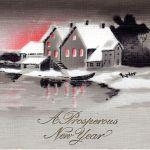 Antique New Year Postcard