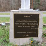 Chief Logan Statue plaque