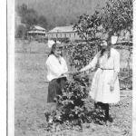 Elizabeth and Virginia Taylor - Machine Shop in background 1922 (now State Highway garage)