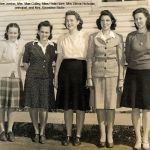 Mrs. Madeline Jordon, Mrs. Mae Colley, Miss Fleta Gore, Mrs. Belva Nicholas (principal), and Mrs. Ernestine Shultz