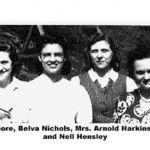 Hazel Parsons, Fleyta Gore, Belva Nicholas, Mrs. Arnold Harkins, Mary Colley, Nell Hensley