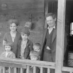 May 1939. The Blizzard family.