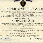 WWII Purple Heart Award, Pvt. James B. Godby